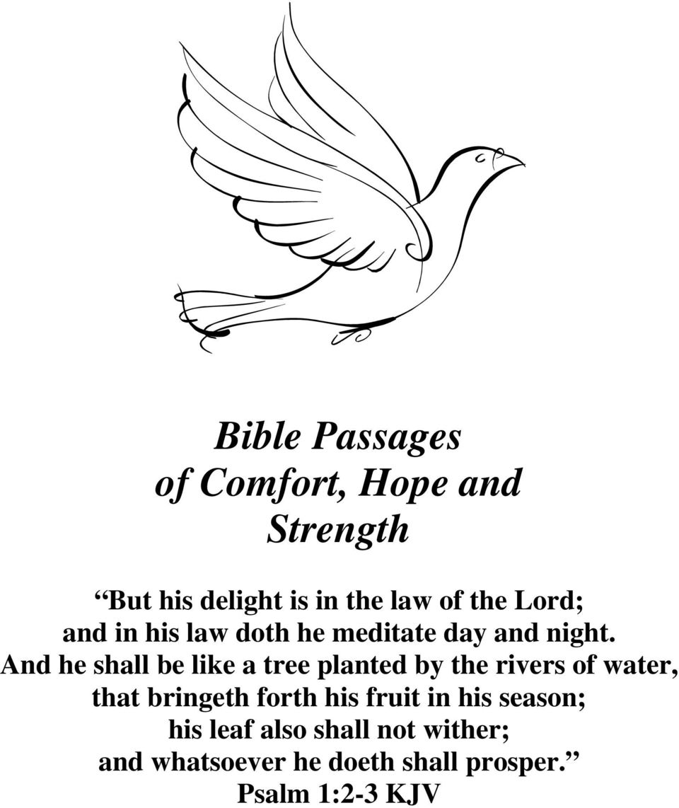 Bible Passages of Comfort, Hope and Strength - PDF