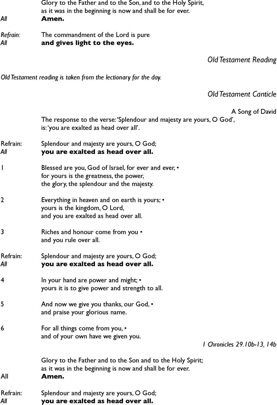 An Order for Morning Prayer on Sunday - PDF