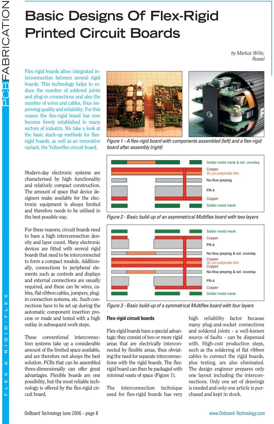 Basic Designs Of Flex Rigid Printed Circuit Boards Pdf Board Using Hdi Technology For This Reason The Has Now Become Firmly Established In Many Sectors