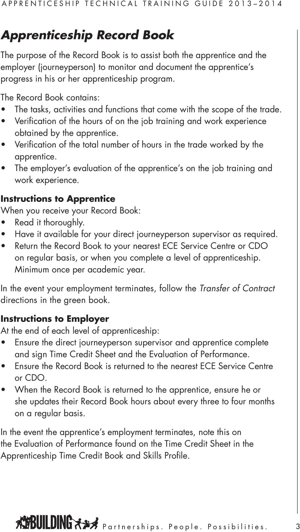 Apprenticeship Technical Training Guide  A Resource Guide