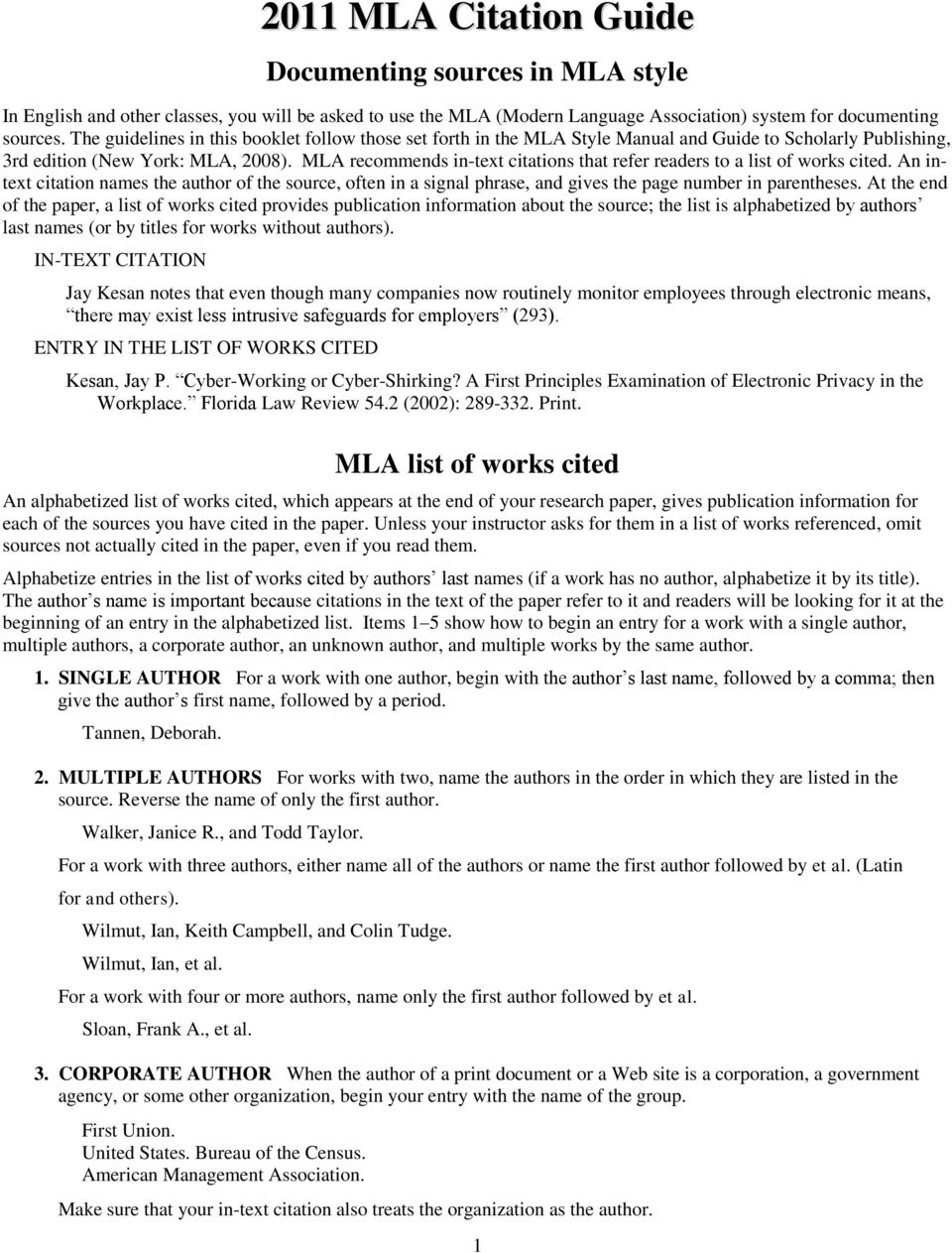 documenting sources in mla style mla list of works cited pdf