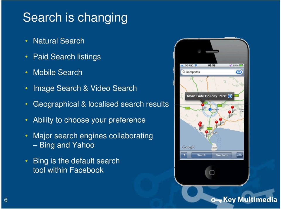 results Ability to choose your preference Major search engines