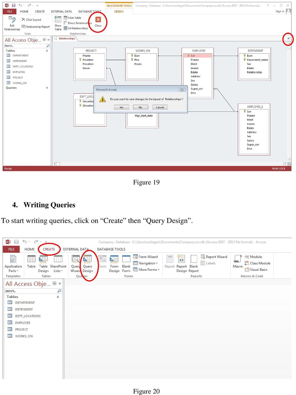 Relational Schema  CS 4700/6700 A Sample of Small Database