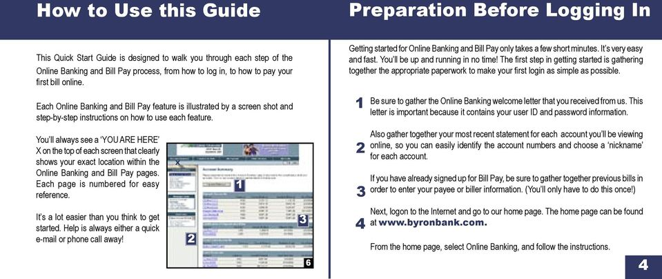 Online Banking & Bill Pay  Quick Start Guide  Step-by-step