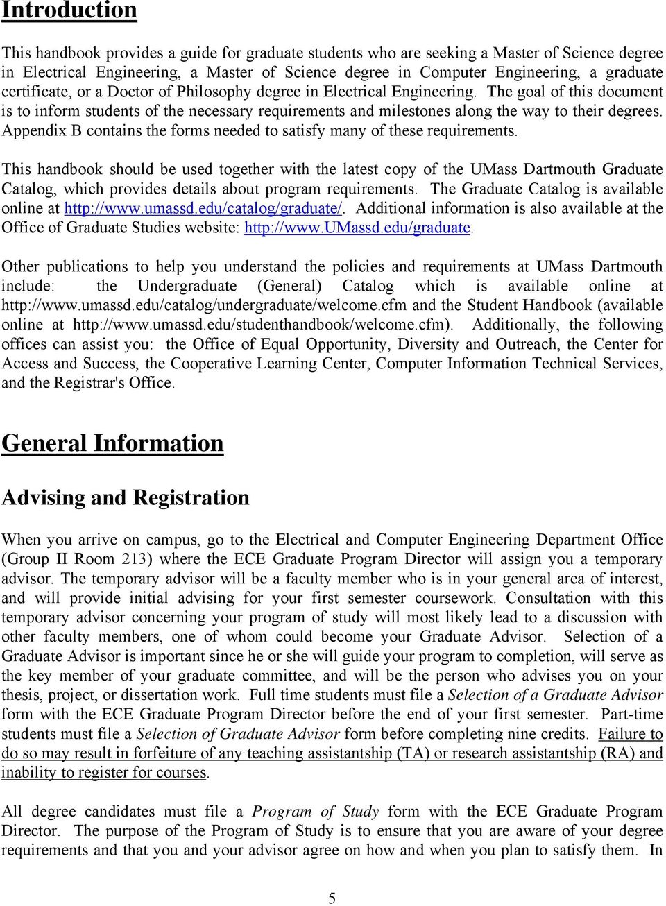 umass dartmouth thesis guidelines