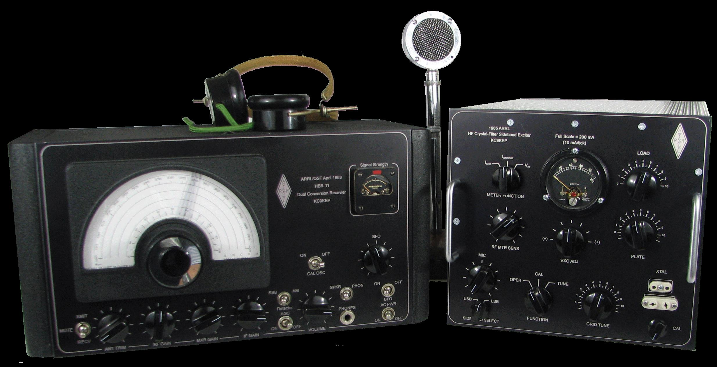 HBR-11 and 1962 ARRL HF Crystal Filter SSB Transceiver