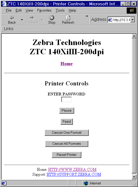 ZebraNet Wired and Wireless Print Servers  User Guide  P Rev