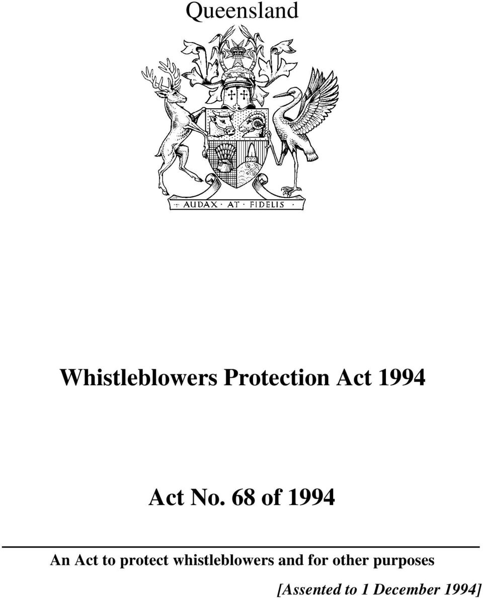 whistleblowers and for other
