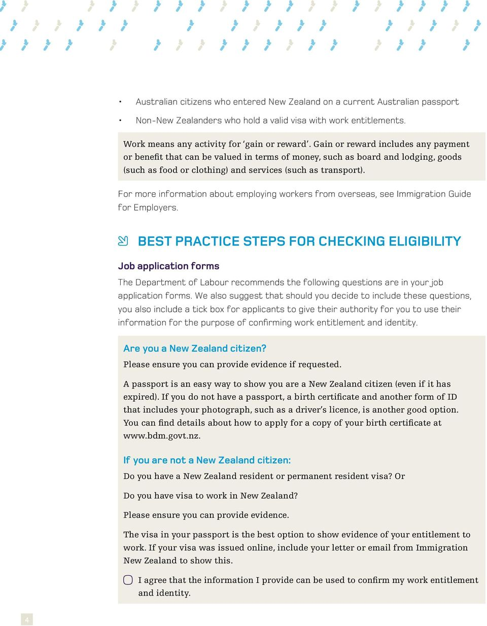 A guide to help employers check work entitlement - PDF
