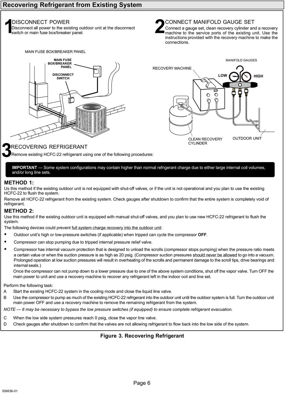 Installation Instructions Pdf Fuse Box Clean Use The Provided With Recovery Machine To Make Connections