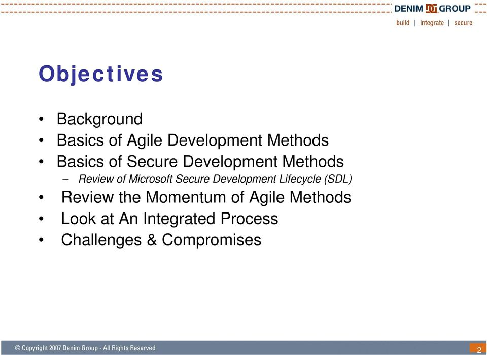 Secure Development Lifecycle (SDL) Review the Momentum of