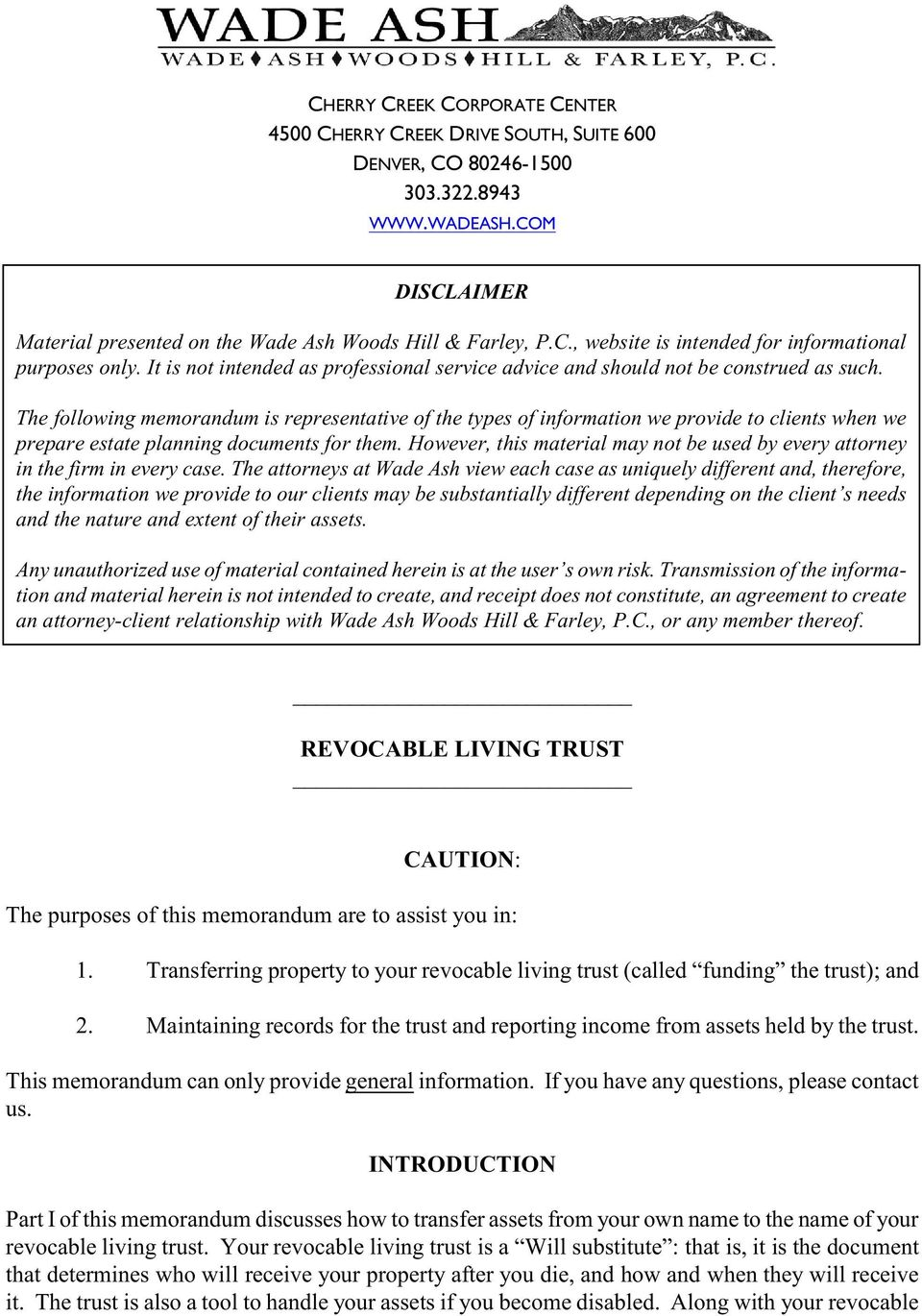 revocable living trust - pdf