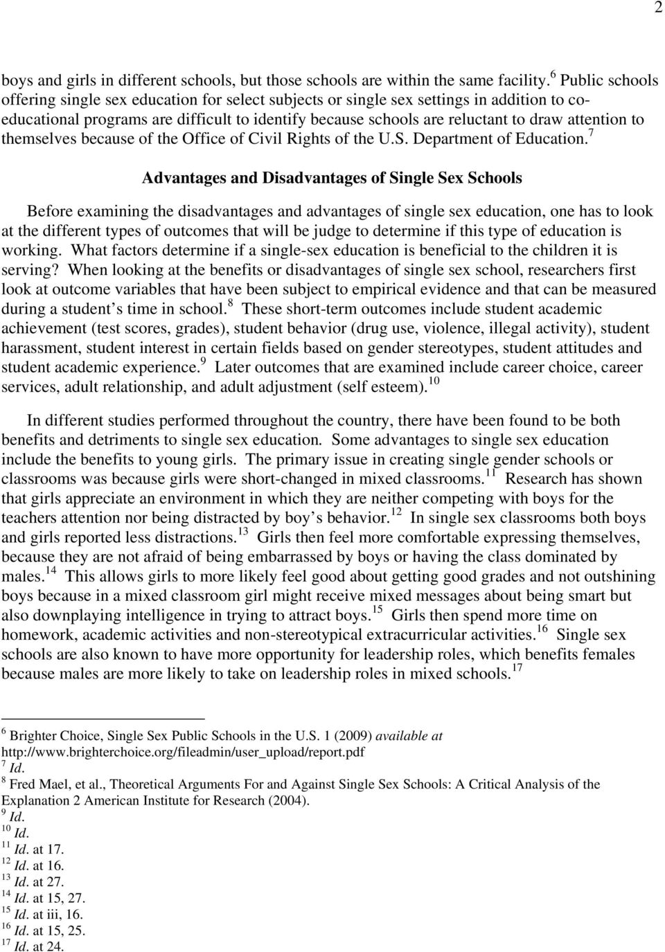 advantages and disadvantages of sex education in schools
