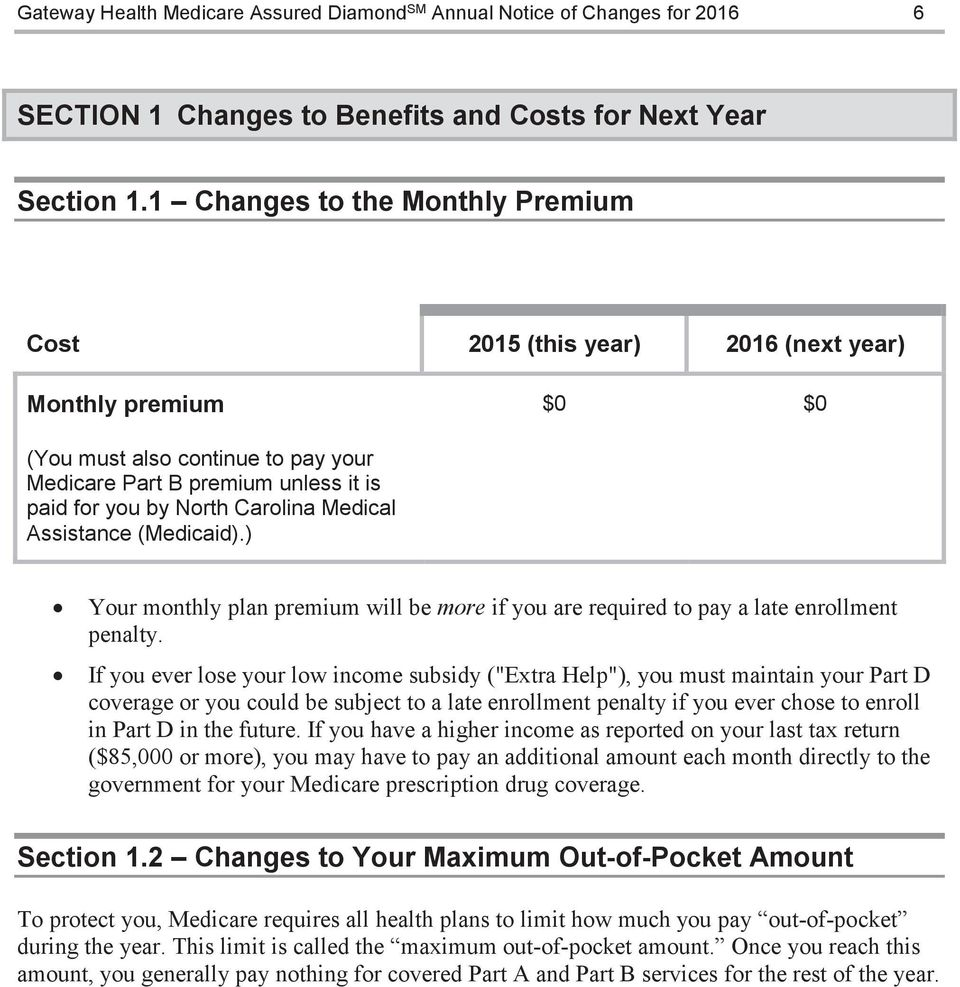 Medical Assistance (Medicaid).) Your monthly plan premium will be more if you are required to pay a late enrollment penalty.