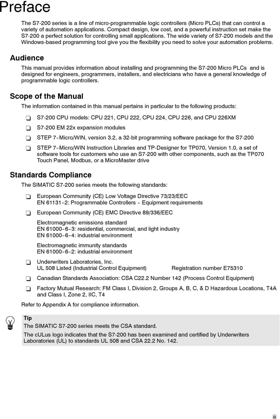 SIMATIC  S7-200 Programmable Controller System Manual