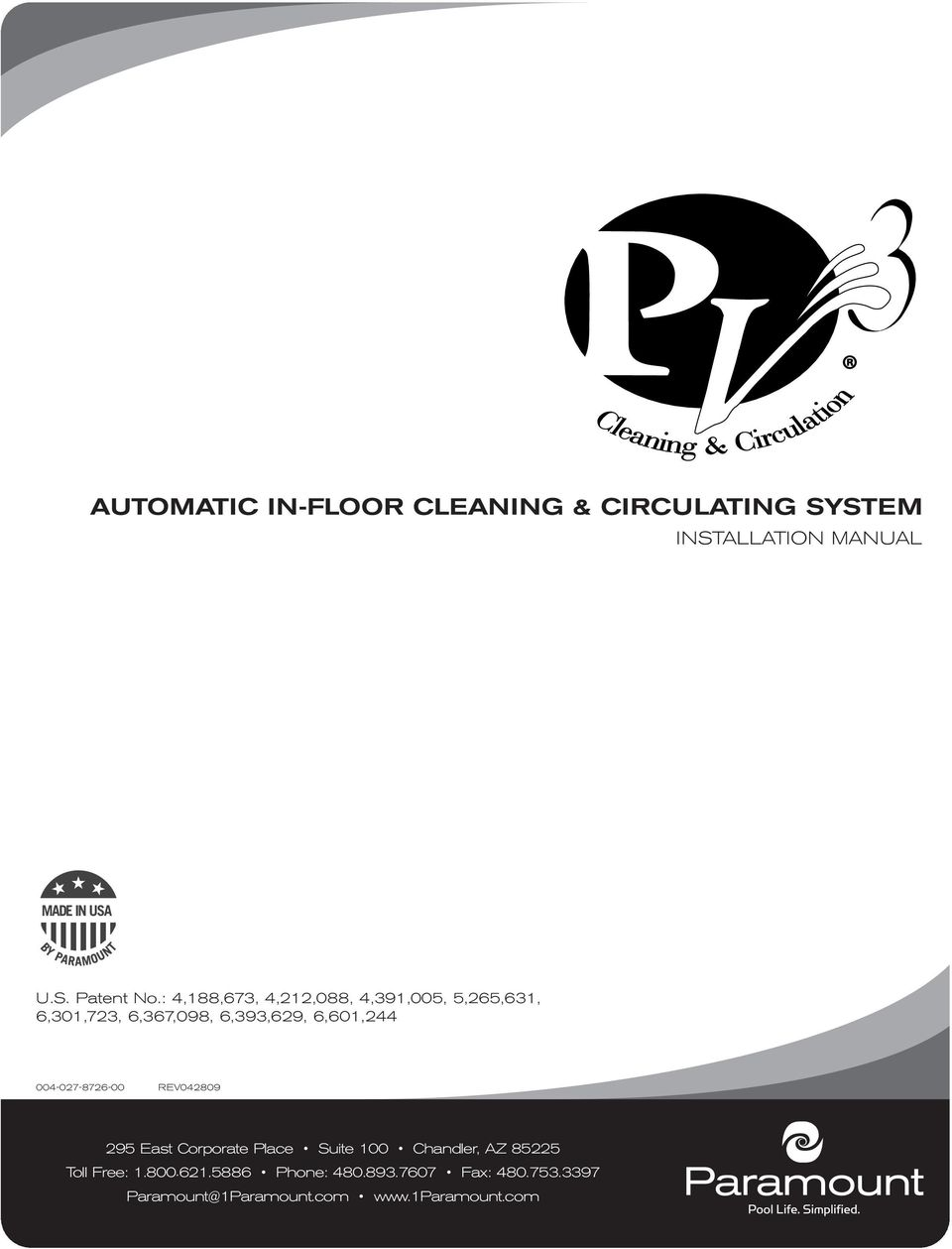 Automatic In Floor Cleaning Circulating System Pdf Free Download