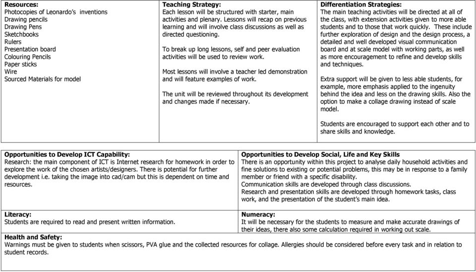Title Everyday Inventions Year 9 Level  Classwork (Learning