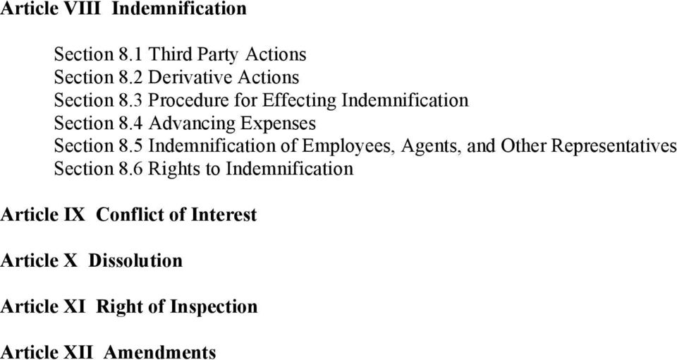 4 Advancing Expenses Section 8.