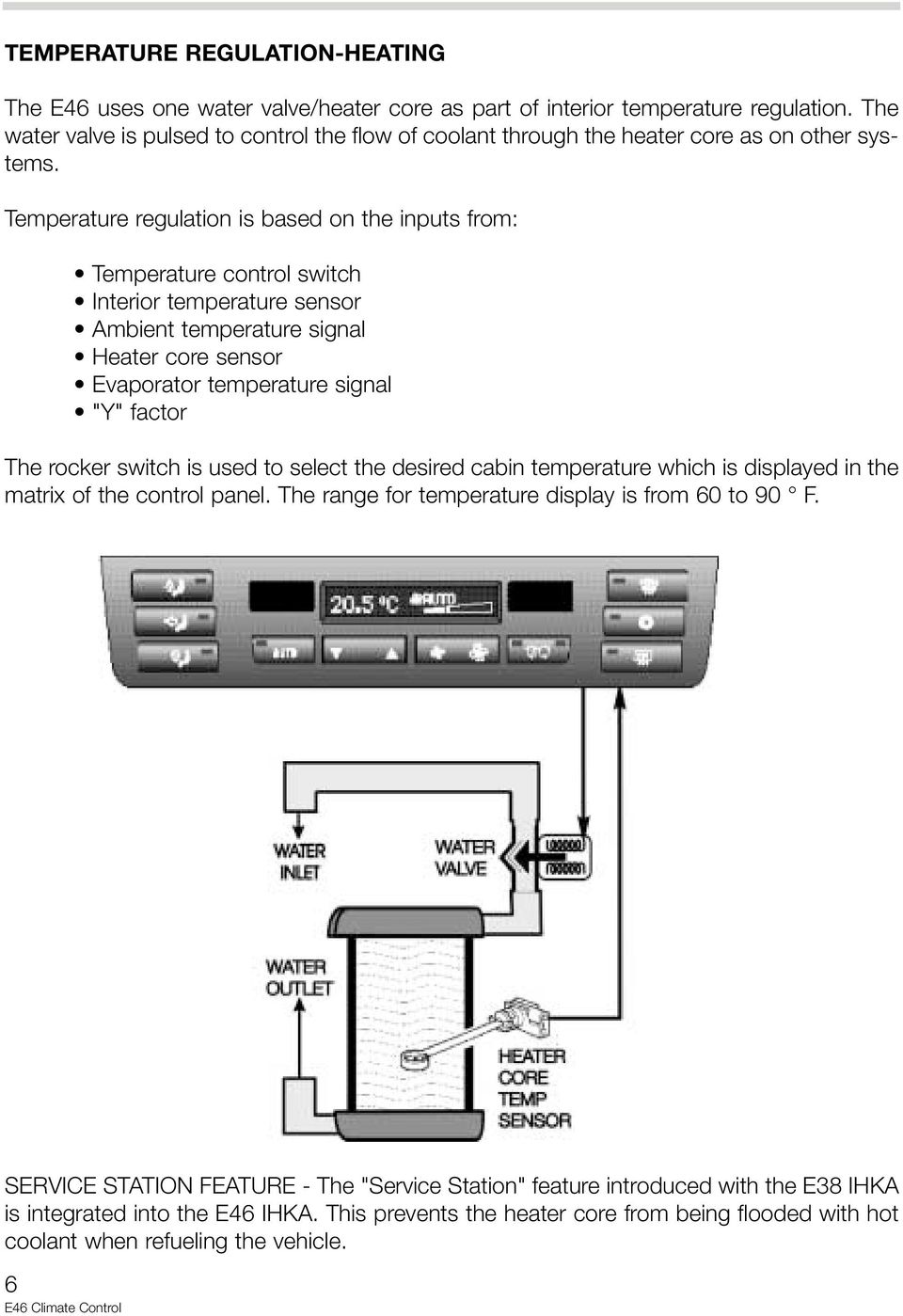 E46 ihka control panel fresh air micro filter temperature regulation temperature regulation is based on the inputs from temperature control switch interior temperature sensor ambient swarovskicordoba Image collections