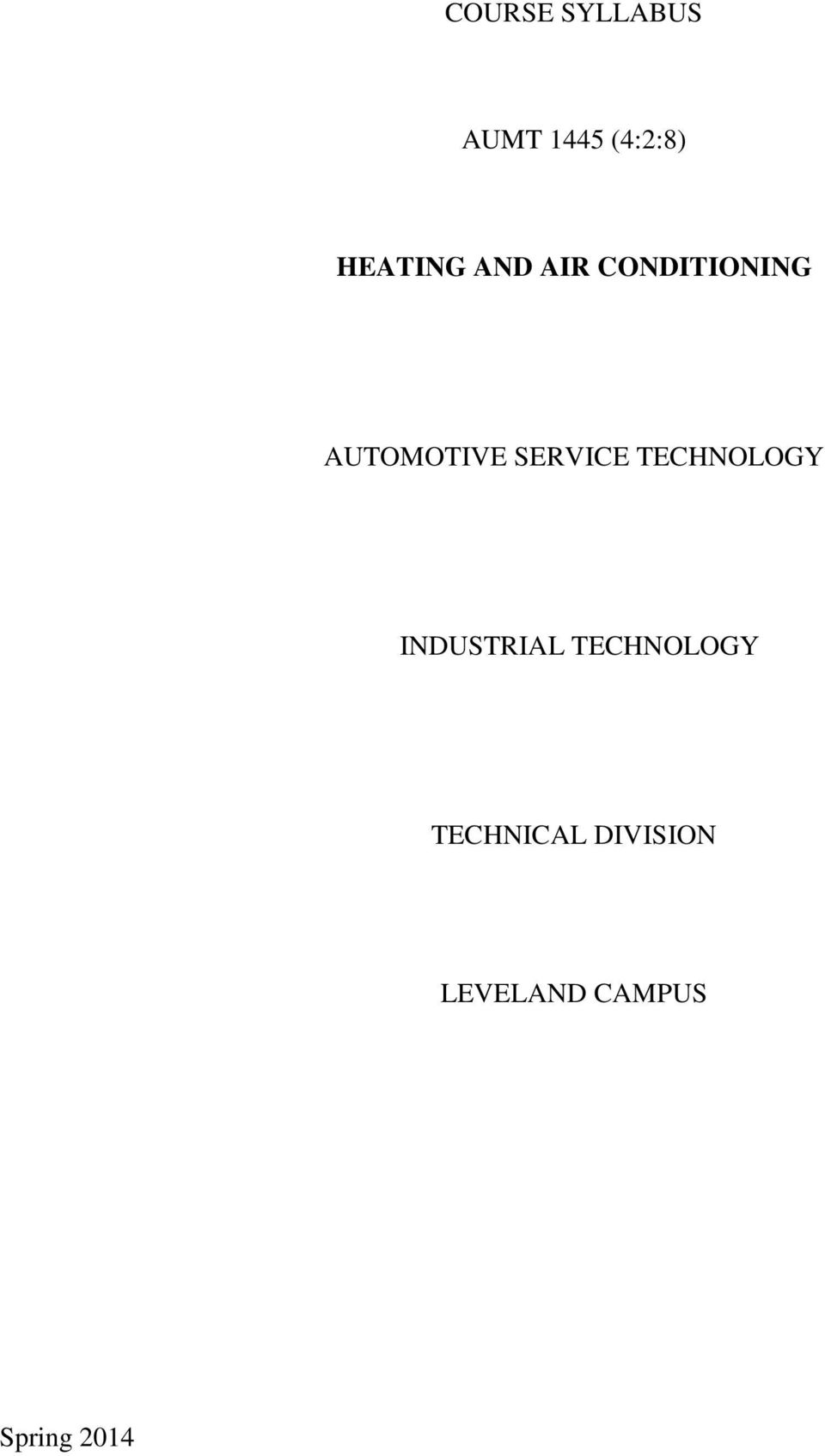 SERVICE TECHNOLOGY INDUSTRIAL TECHNOLOGY