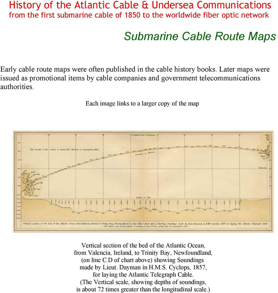 Submarine Cable Route Maps - PDF