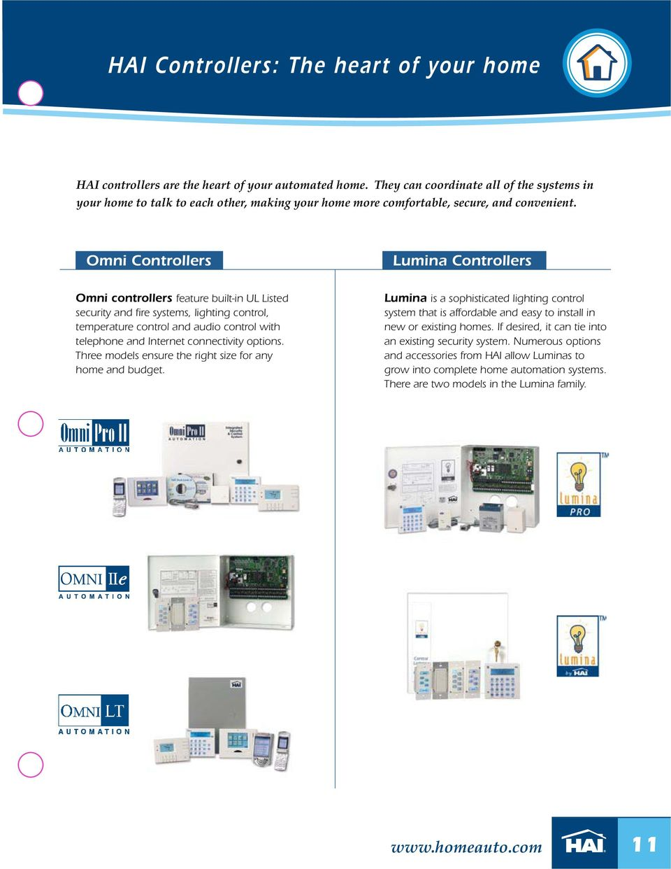 Home Control Systems Product Catalog Z Wave Support Now With Pdf Ge Zwave 3 Way Dimmer Auxliary Switch Kit Installation Omni Controllers Lumina Feature Built In Ul Listed Security And Fire