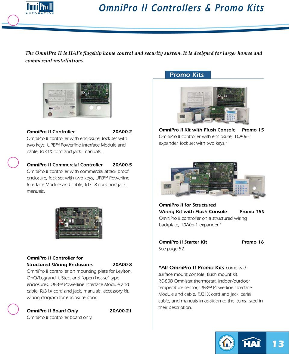 Home Control Systems Product Catalog Z Wave Support Now With Pdf Structured Wiring Enclosure Accessories Omnipro Ii Kit Flush Console Promo 15 Controller 10a06
