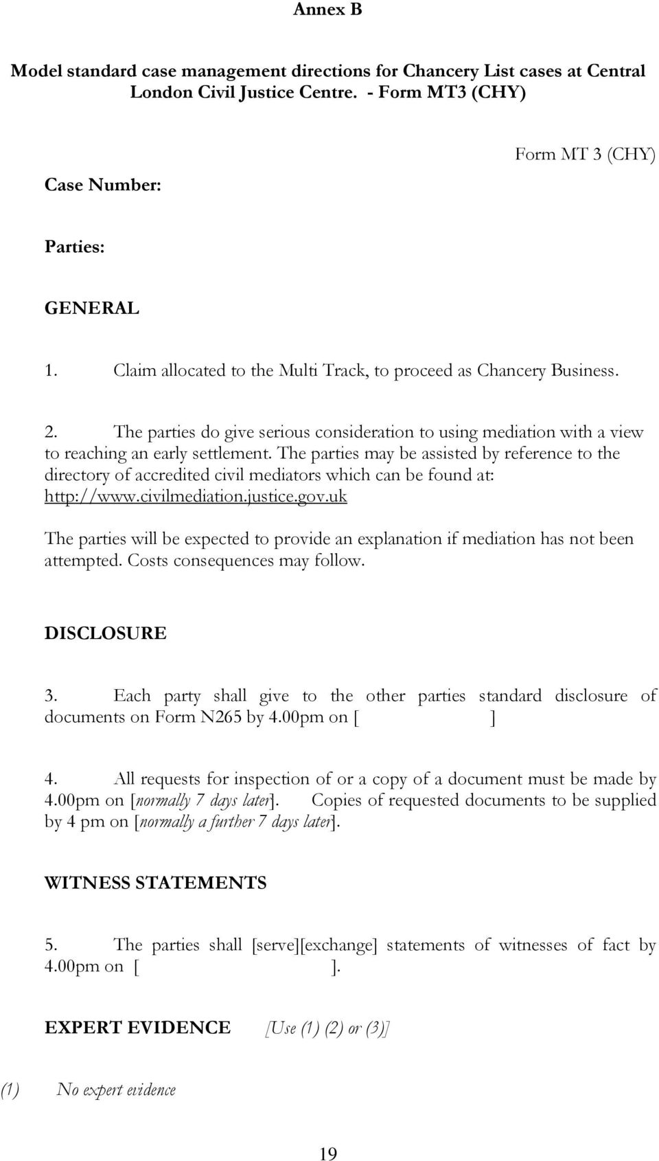 Chancery Business At Central London Civil Justice Centre Index Pdf