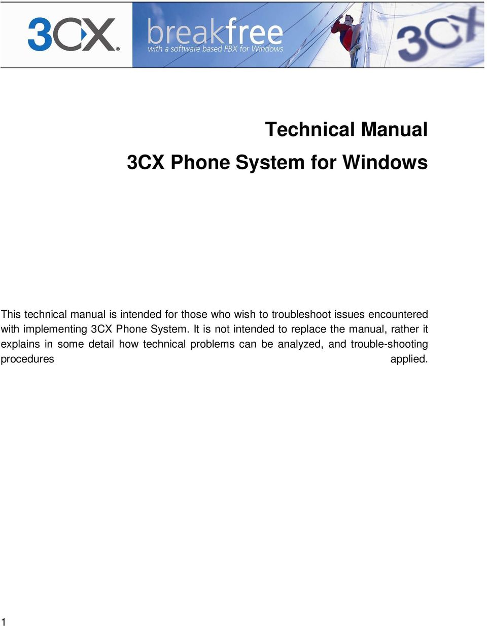 Technical Manual 3CX Phone System for Windows - PDF