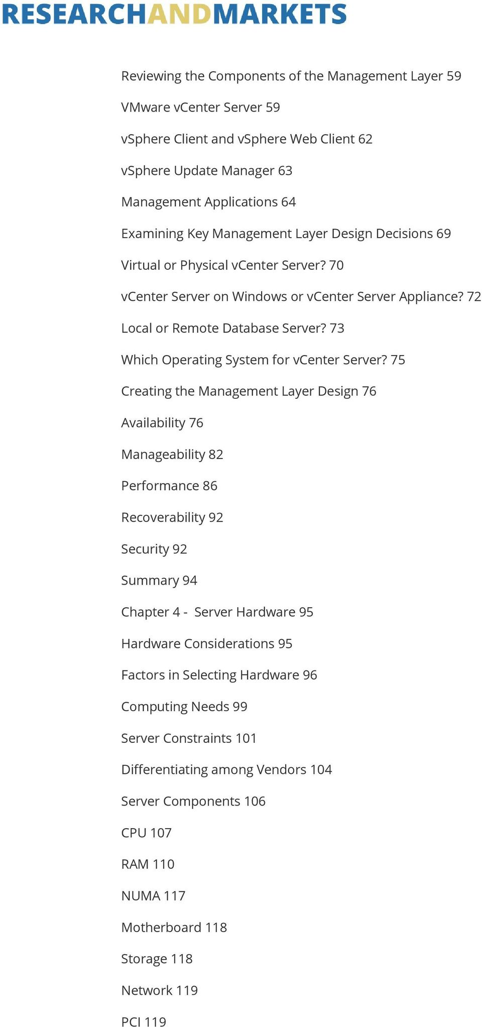 73 Which Operating System for vcenter Server?