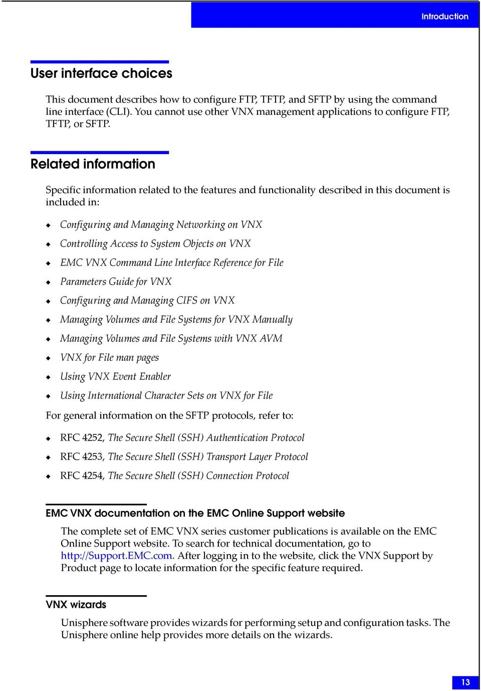 EMC VNX Series  Using FTP, TFTP, and SFTP on VNX  Release