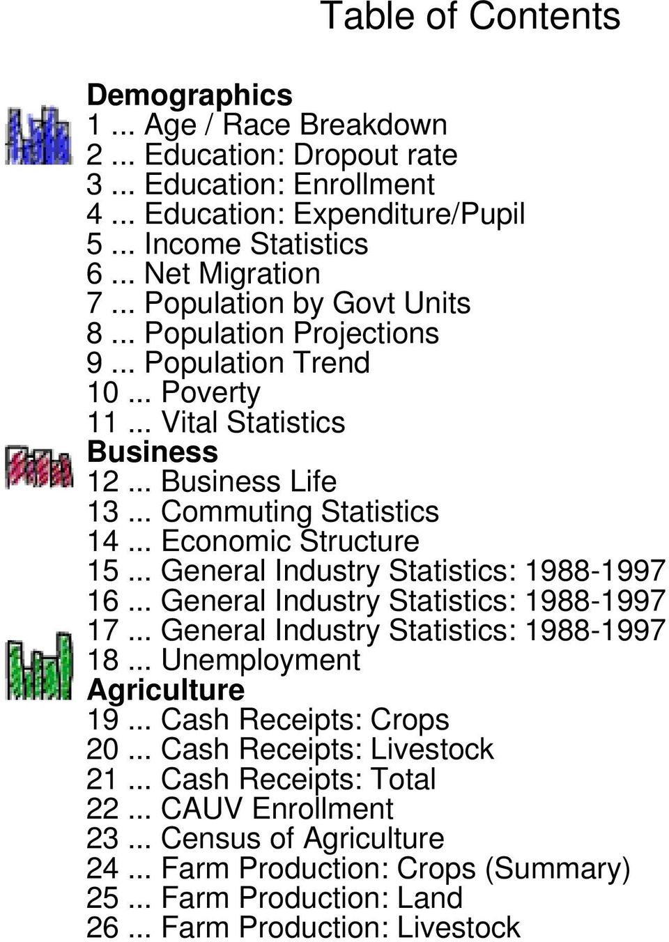 .. Economic Structure 15... General Industry Statistics: 19881997 16... General Industry Statistics: 19881997 17... General Industry Statistics: 19881997 18... Unemployment Agriculture 19.