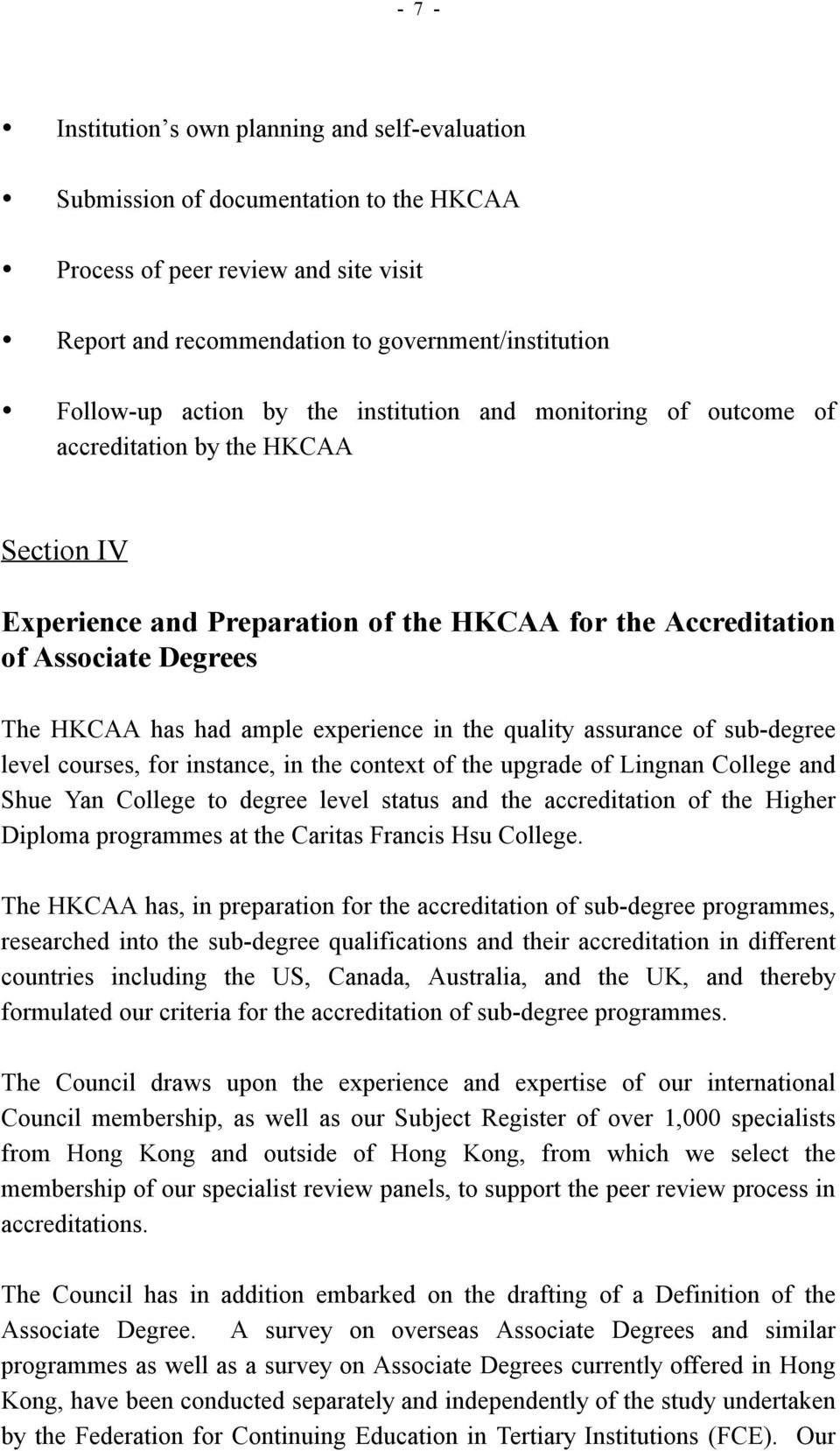 paper on the accreditation of associate degree programmes - pdf