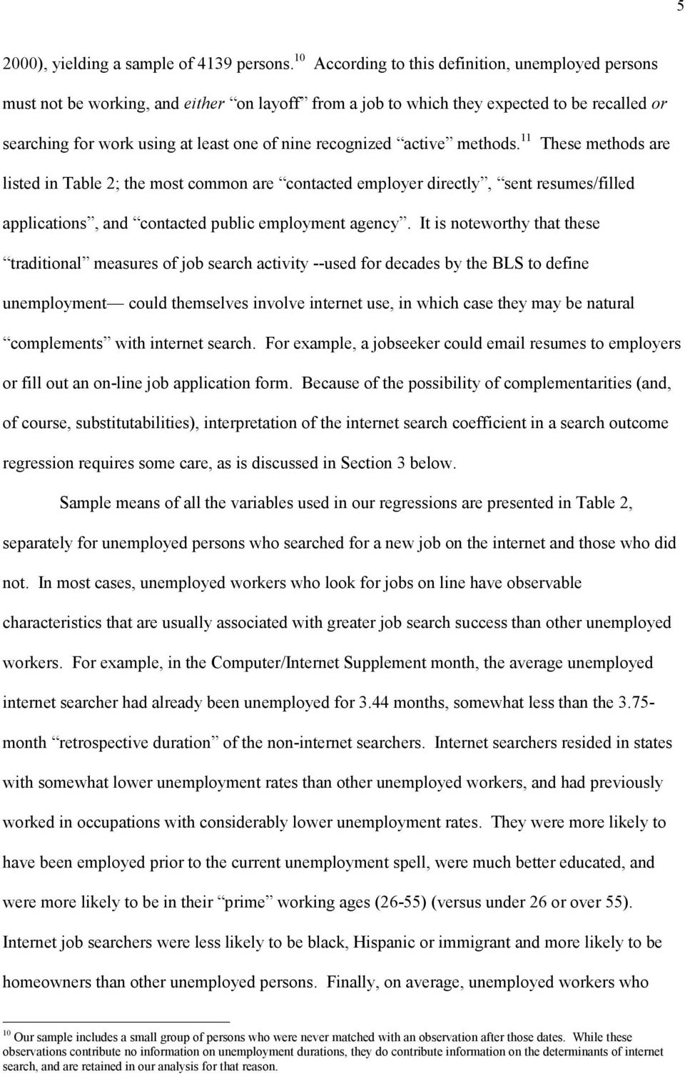 Internet Job Search And Unemployment Durations Pdf