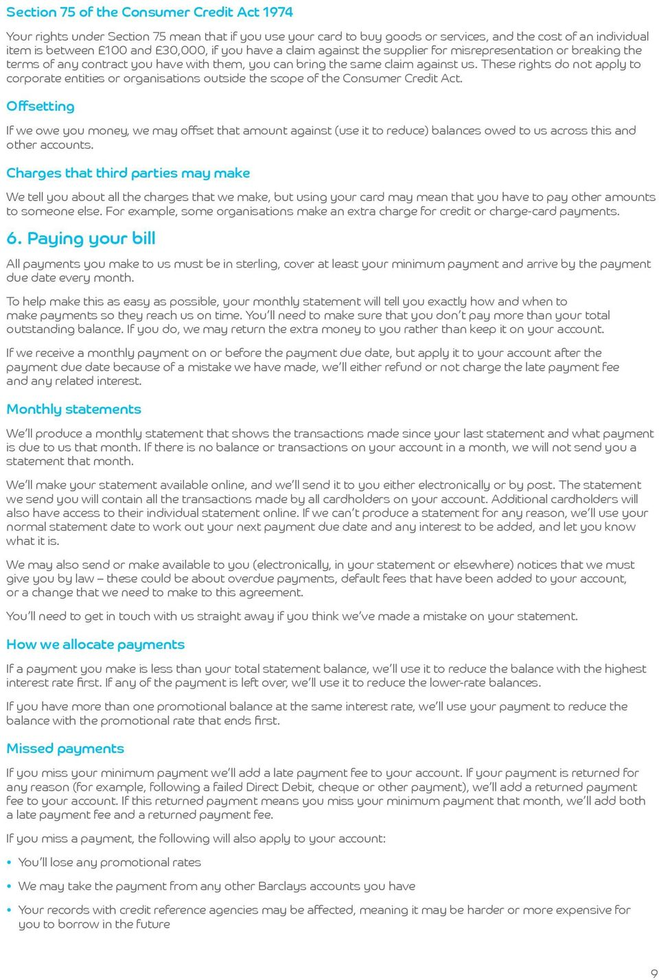 Barclaycard Business Credit Card Terms and Conditions - PDF