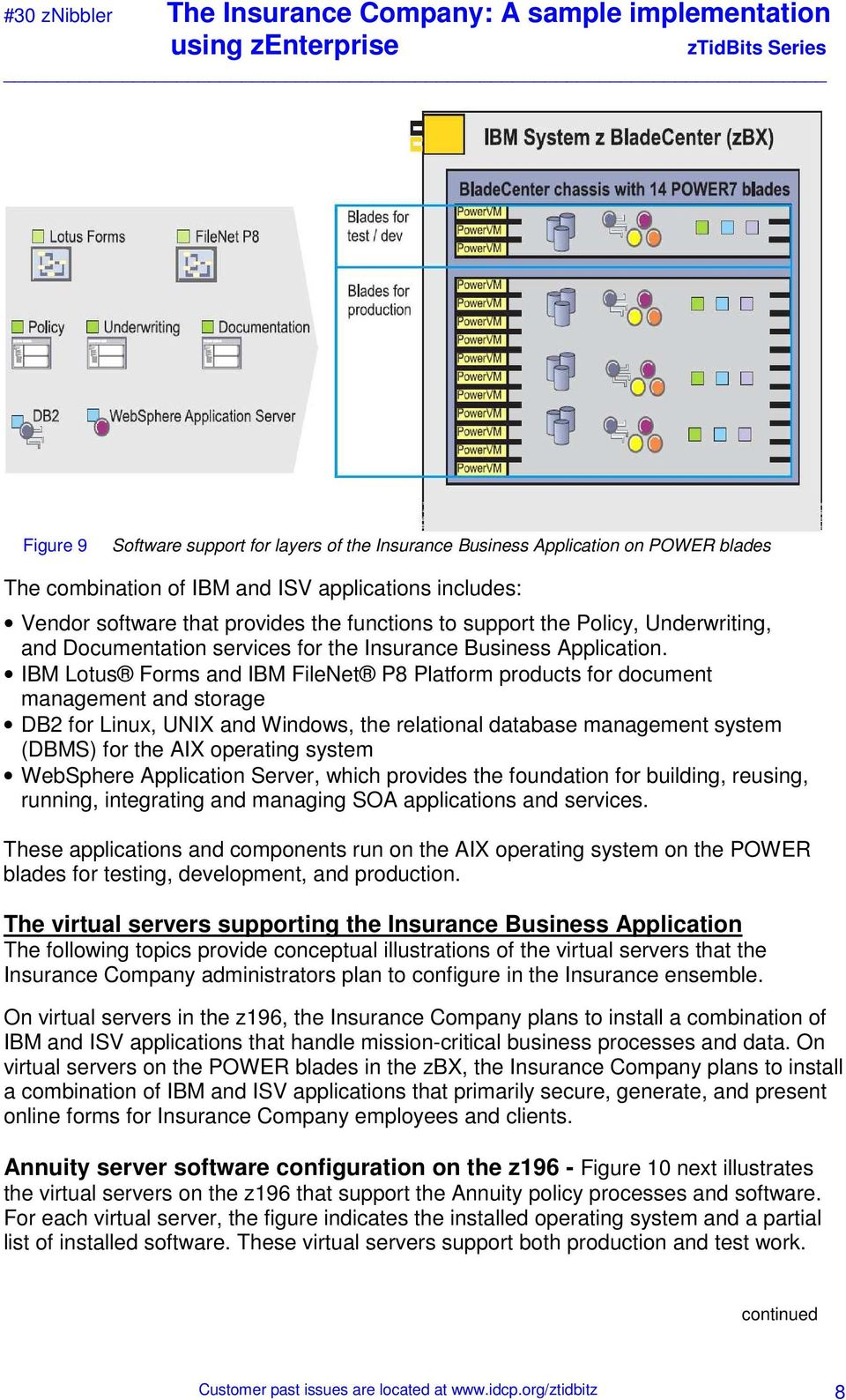 IBM Lotus Forms and IBM FileNet P8 Platform products for document management and storage DB2 for Linux, UNIX and Windows, the relational database management system (DBMS) for the AIX operating system