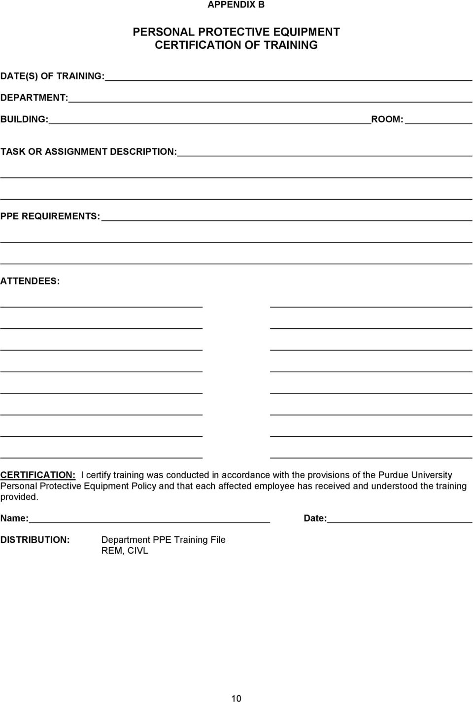 Personal Protective Equipment (PPE) Policy - PDF