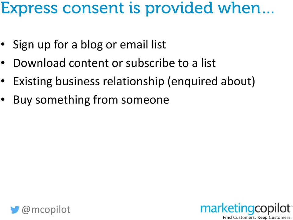subscribe to a list Existing business