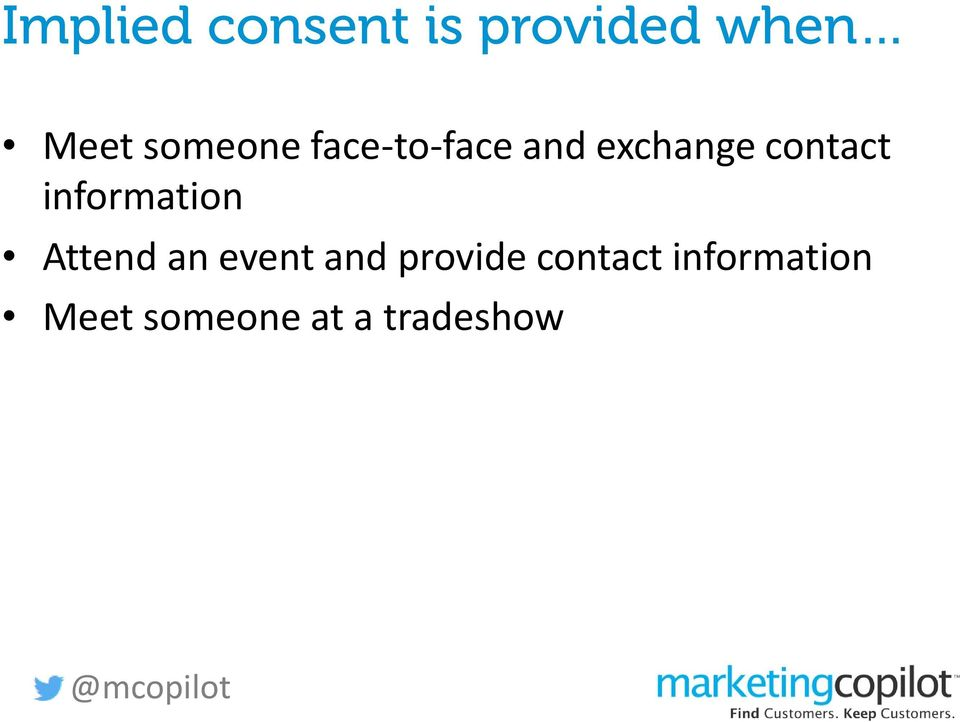 information Attend an event and provide