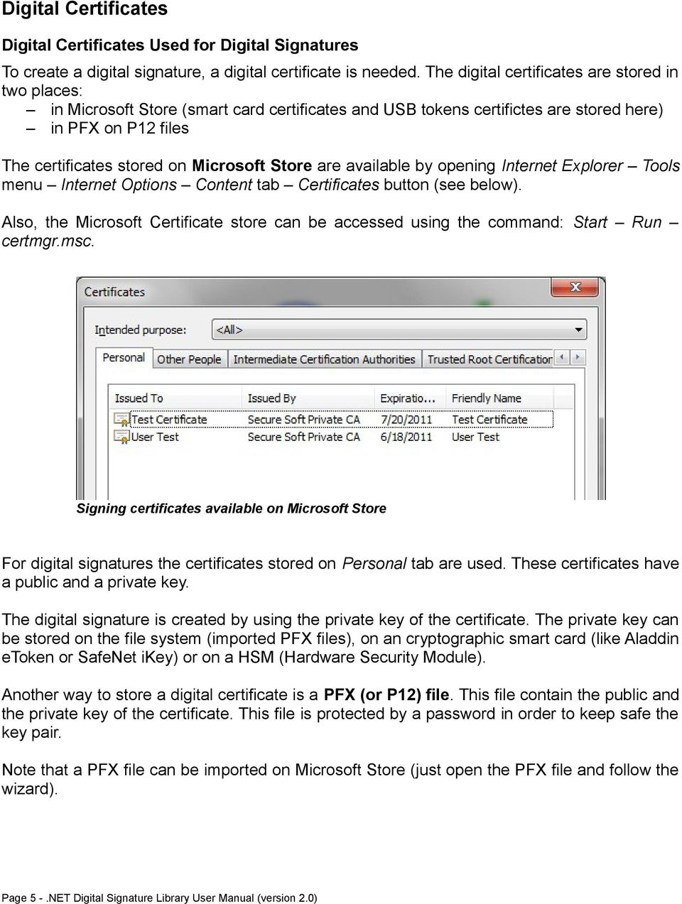 Net Digital Signature Library User Manual Pdf