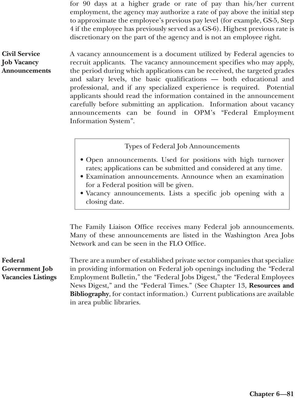 Federal Government Employment - PDF