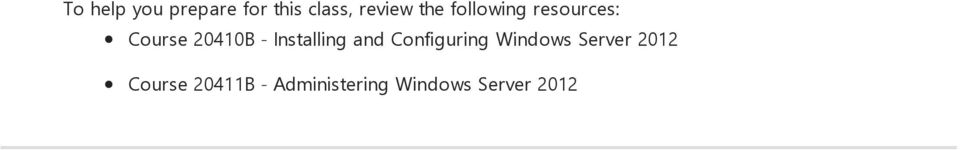 Installing and Configuring Windows Server
