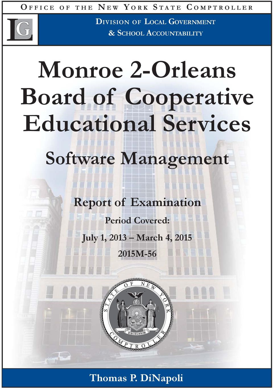 Cooperative Educational Services Software Management Report of