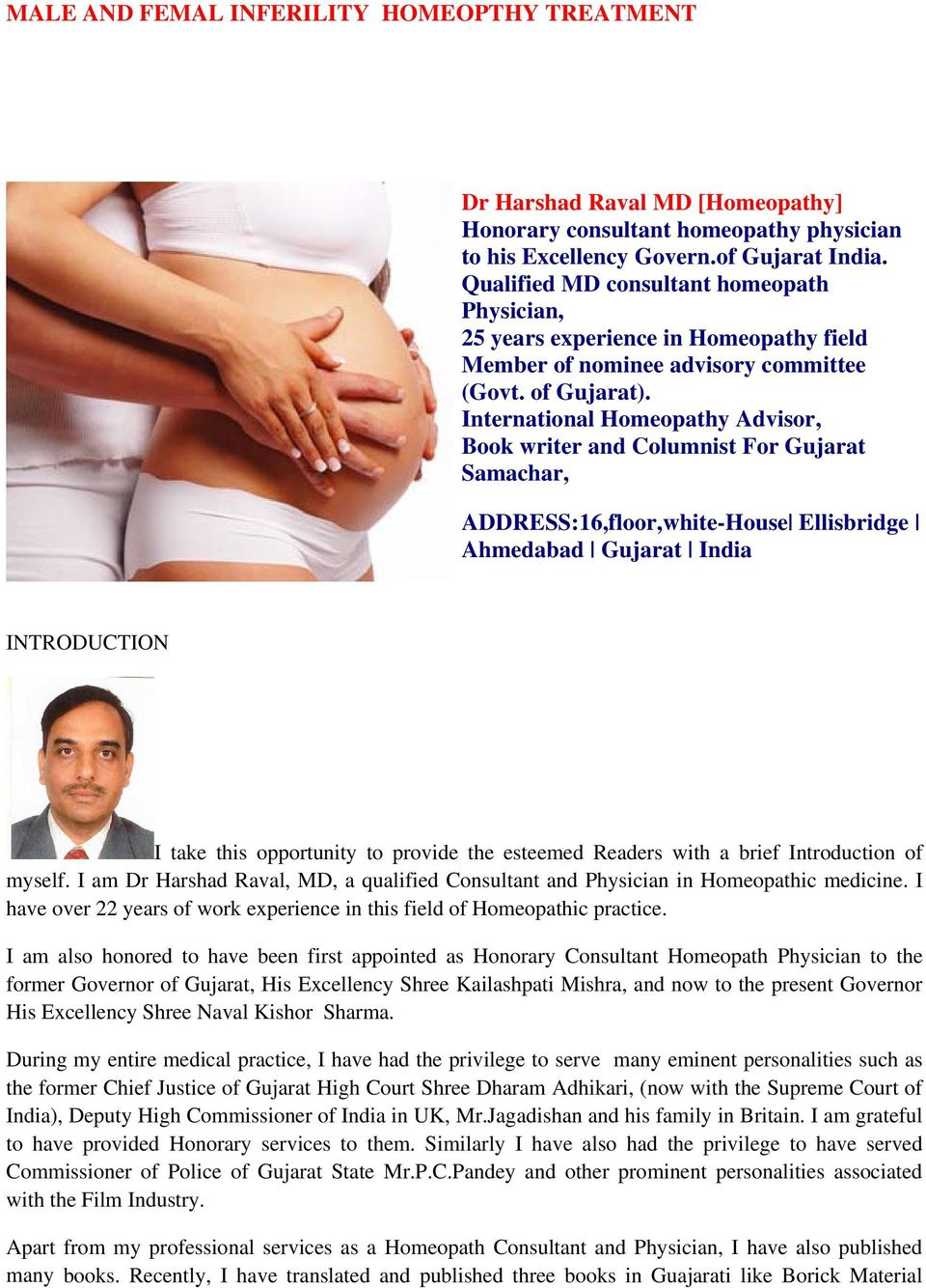 MALE AND FEMAL INFERILITY HOMEOPTHY TREATMENT - PDF