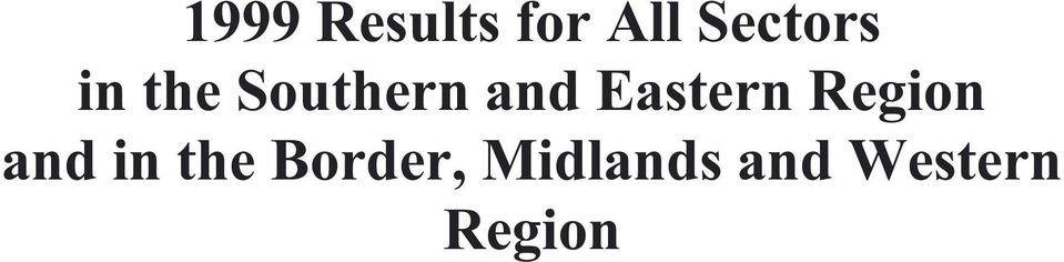 Eastern Region and in the