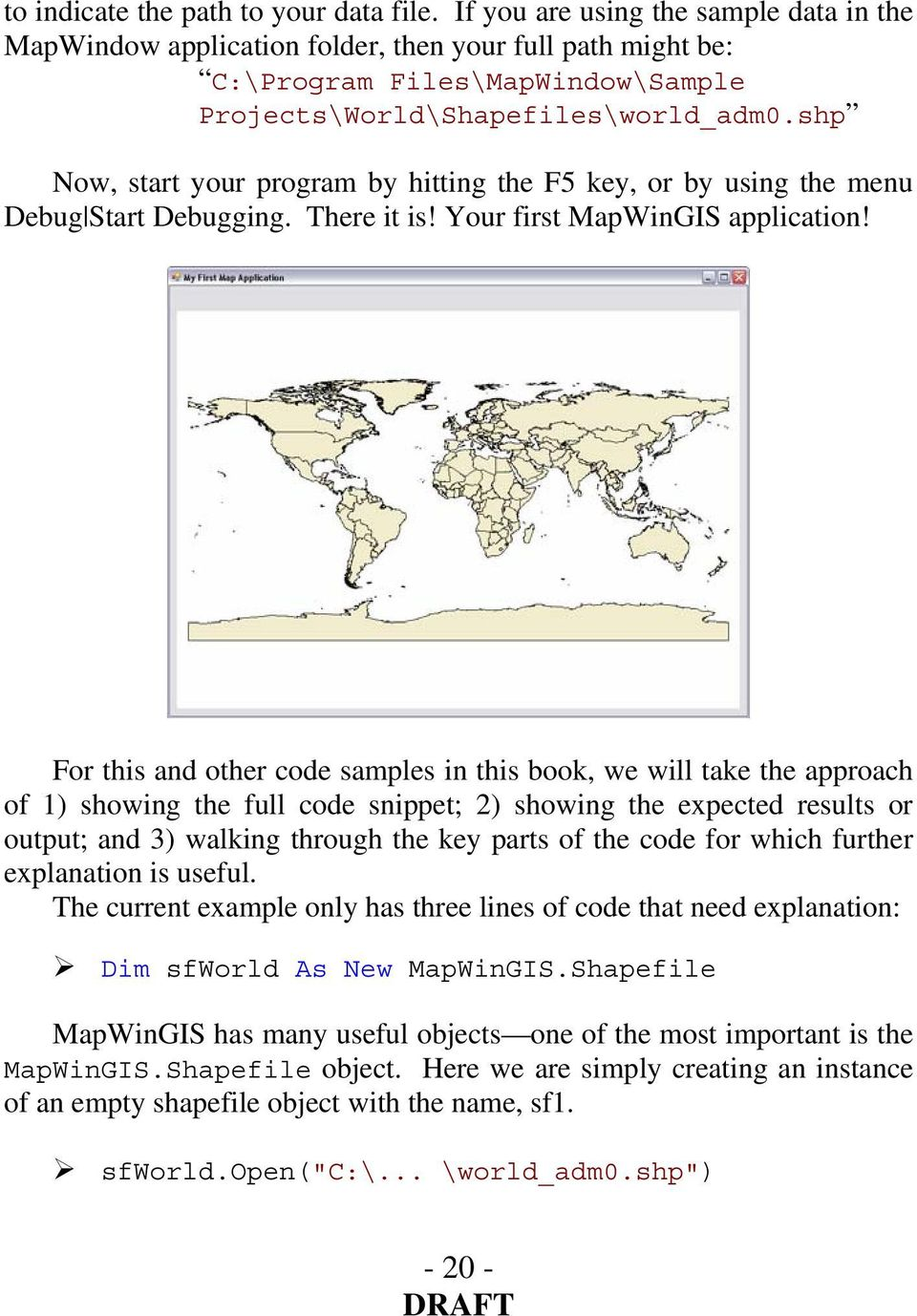 Getting Started With the MapWinGIS ActiveX Control - PDF