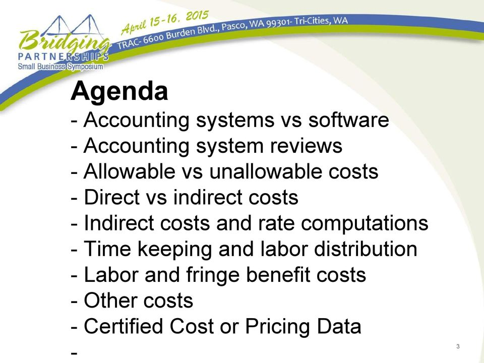 costs and rate computations - Time keeping and labor distribution -