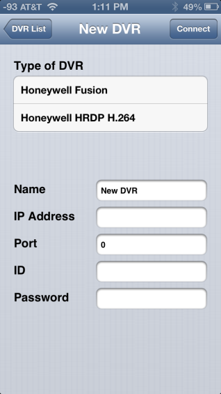HRDP-Fusion (iphone App) for Remote Access to HRDP H 264 and