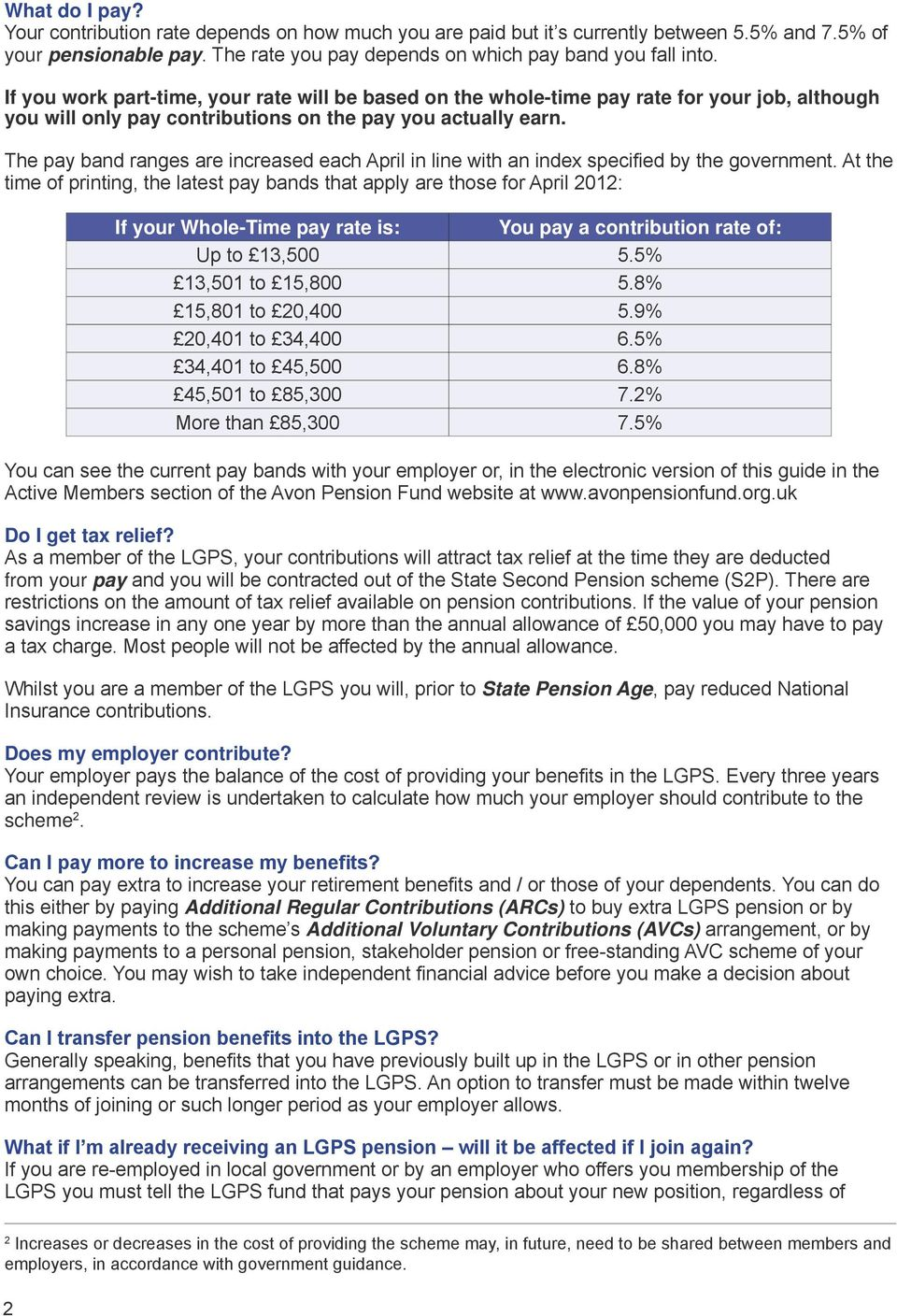 A Short Guide to the LGPS The Local Government Pension