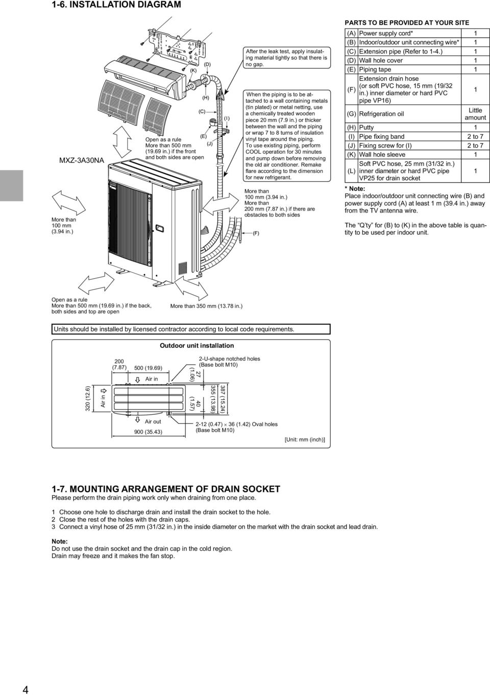 Split Type Air Conditioner Installation Manual Contents For Old Wiring Diagram Down Before Removing The Remake New Refrigerant